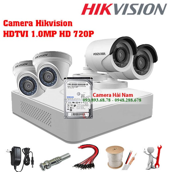 Trọn bộ camera Hikvision HDTVI siêu nét HD/Full HD Chính hãng, Giá rẻ nhất