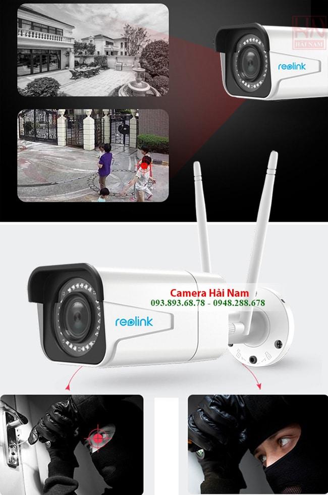 Camera Wifi không dây ngoài trời TỐT NHẤT Reolink RLC-511W Siêu sắc nét 5.0M - 2K [2560*1920]p, Zoom quang 4x, Starlight, Hồng ngoại chiếu xa 30 mét