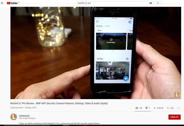 Đánh giá Camera wifi ip Reolink E1 Pro qua khả năng ghi hình thực tếtại các khu vực