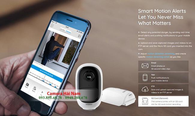 Camera dùng PIN Reolink Argus 2 Full HD 1080P Ngoài trời Góc rộng 130 độ